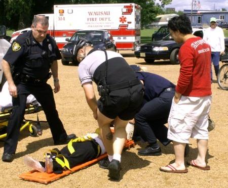 Ambulance, police response - 039